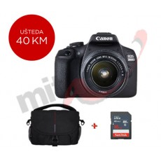 CANON EOS2000D EF S18-55IS bundle torbica+16GB (2728C029AA)